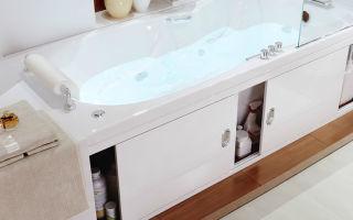 Алгоритм установки экрана в ванной комнате для акриловых ванн