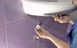 Монтаж раковины в ванной — инструкция по установке