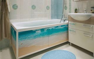 Экран под ванну – практичный элемент декора