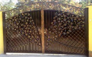 Изготовление металлических ворот с порошковой покраской