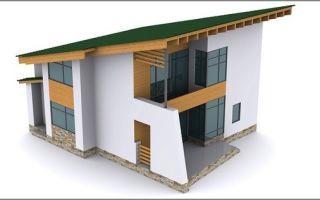 Совет как рассчитать угол наклона односкатной крыши