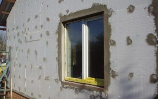 Внешнее утепление стен с помощью пенополистирола