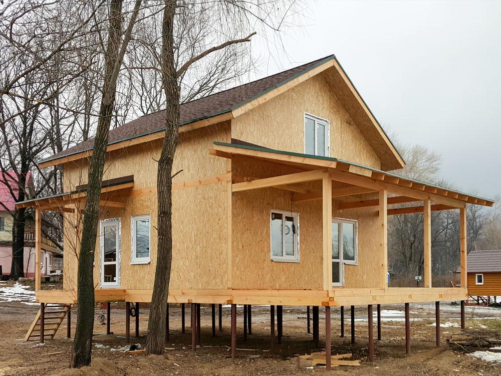 Предлагаем новый каркасный дом