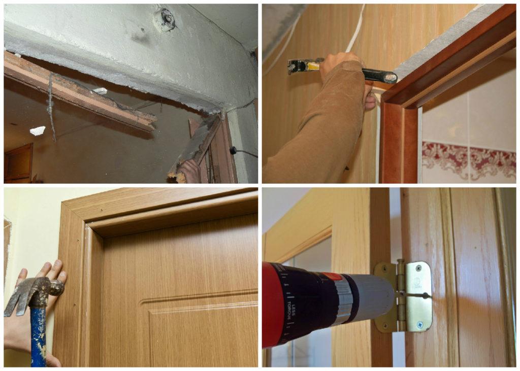 Установка двери самостоятельно