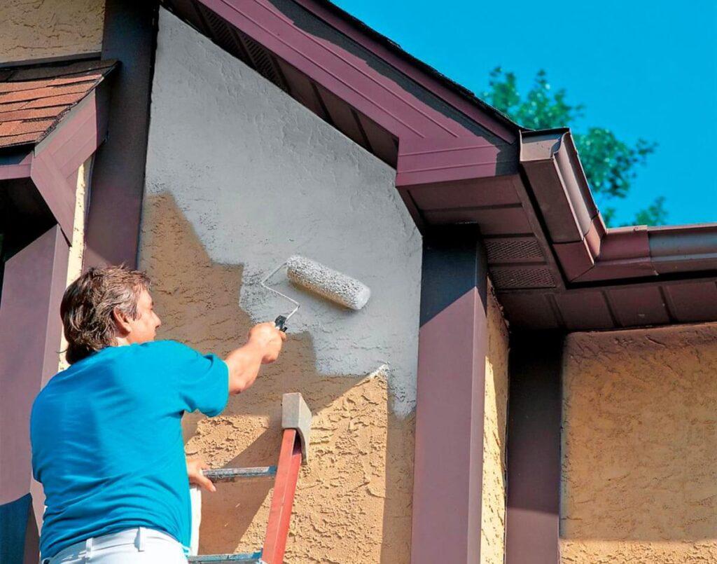 Краски в отделке фасада