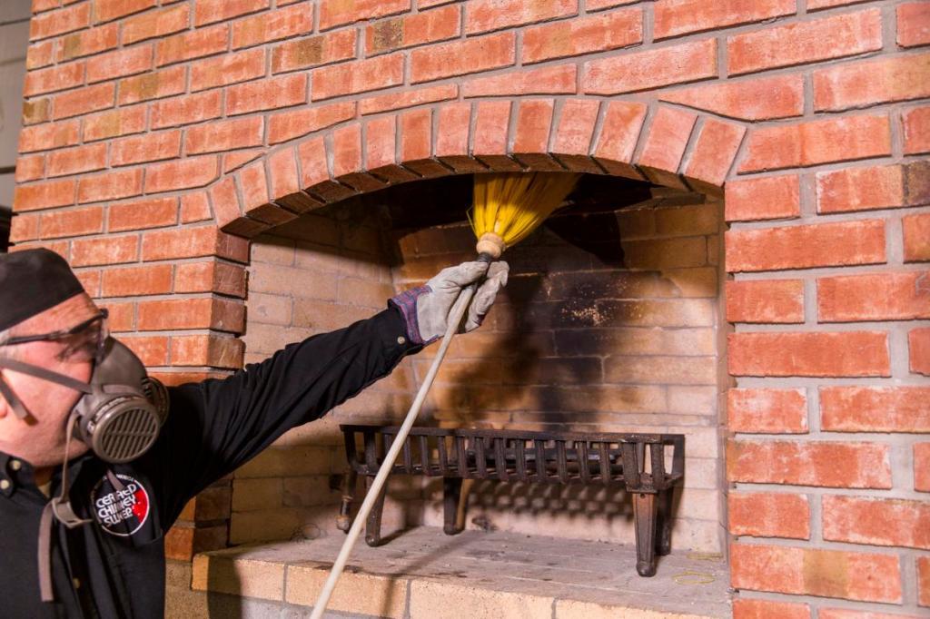 Уход за печью и камином: чистим дымоход